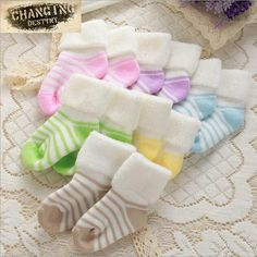 Warm Children's Sock Soft Let Go Baby Socks Terry Flanging