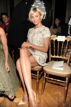 Cameron Diaz. I've always thought she had the best legs in Hollywood.