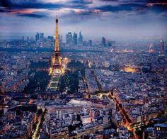 Impresionante vista de Paris