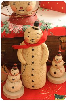 Snowmen-Reproductions by Johanna Parker Design, via Flickr