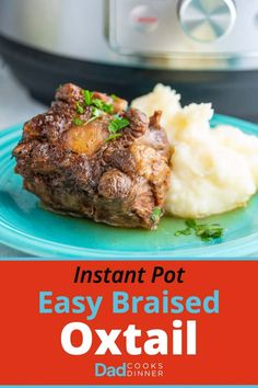 Instant Pot Easy Braised Oxtail is part of Oxtail recipes Instant Pot Easy Braised Oxtail Simple and delicious, braised oxtail in a little over an hour thanks to pressure cooking - Oxtail Recipes Crockpot, Spicy Recipes, Crockpot Recipes, Cooking Recipes, Curry Recipes, Goat Recipes, Cooking Ingredients, Cooking Videos, Cooking Tips