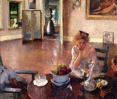 Edmund Tarbell (1862 - 1938)  The Breakfast Room 1902-1903