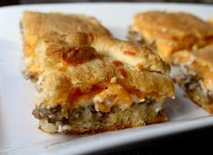 Sausage and Cheese Crescent Squares... It's like it's own food group!