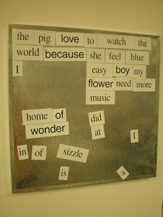 Magenetic Poetry Board in Teen Area | Flickr - Photo Sharing! set up in the library for kids to use