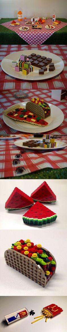 #Lego picnic food