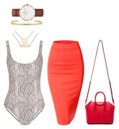 """""""Untitled #227"""" by anniken-ns on Polyvore featuring Norma Kamali, Daniel Wellington, Jennifer Fisher, Doublju, Jules Smith and Givenchy"""