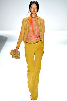 Elie Tahari yellow pants  - I want these with a dusty navy blouse! :) I see it clear as day in my head! :)