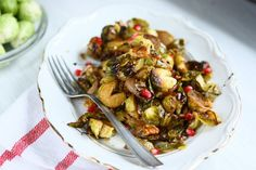 roasted brussels sprouts with balsalmic, honey & walnuts | keep it skinny