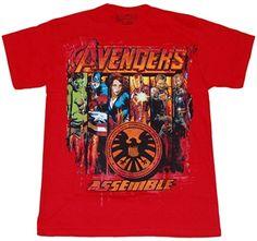 Avengers Movie Shirts - Avengers Assemble Movie T-Shirt. Found it at Walmart! Avengers Assemble Movie, Avengers Movies, Cartoon T Shirts, Movie Shirts, Marvel Comics, Walmart, Geek, Superhero, Street