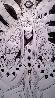 The Otsutsuki Clan - Naruto Naruto Shippuden Sasuke, Anime Naruto, Minato E Naruto, Manga Anime, Wallpaper Naruto Shippuden, Naruto Girls, Naruto Wallpaper, Naruto Art, Boruto