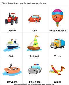 Land transport - TurtleDiary.com