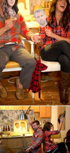 coed wedding shower | lumberjack theme