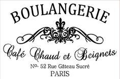 Plantilla plantilla - francés Stencil - panadería - pastelería francesa 12 x 18 francés Stencil - Boulangerie 7mil mylar
