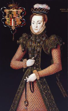 Portrait of an Unknown Lady (possibly of the Wentworth Family?) aged about 19 years old by Hans Eworth, dated 1565 Tate Gallery, London