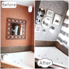 Rockin' Rose Damask Stencil Transformation | Before & After by the House of Rose blog | Royal Design Studio
