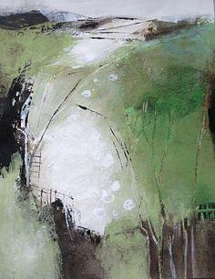 """Renate Migas, """"behind the forest"""" Mit einem Klick auf """"Als Kunstkarte versenden"""" versenden Sie kostenlos dieses Werk Ihren Freunden und Bekannten."""