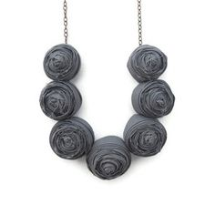 Rosette Necklace Gray now featured on Fab.