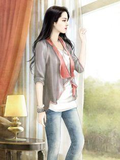 chinese girl y Beautiful Fantasy Art, Beautiful Anime Girl, Art Anime, Anime Art Girl, Painting Techniques Art, Art Chinois, Lovely Girl Image, Cute Girl Wallpaper, China Girl