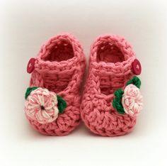 Mis tejidos en crochet y dos agujas (palitos): Tejiendo zapatos ...