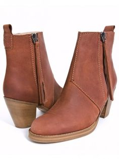 Acne Pistol Short boots in Terracotta. $570 lolz