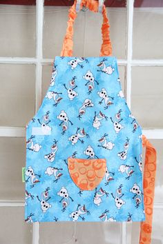 Olaf Smock, Child Apron, Frozen Apron, Olaf from Frozen, Frozen Toddler Gift, Olaf gift, Frozen Gift