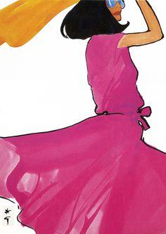 Textile International Cover by Rene Gruau.