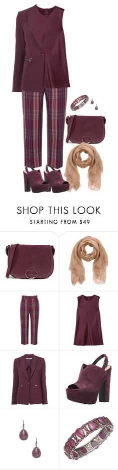 """""""Fancy Pants Tartan"""" by pheonix-dt ❤ liked on Polyvore featuring Little Liffner, Ermanno Scervino, Acne Studios, Joseph, Veronica Beard and Bavna"""