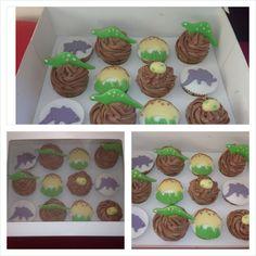 Cupcakes de dinosaurios