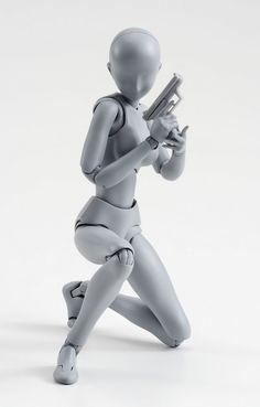 絵師 フィギュア ボディくん ボディちゃん 可動 刀 銃 装備 ポーズに関連した画像-04