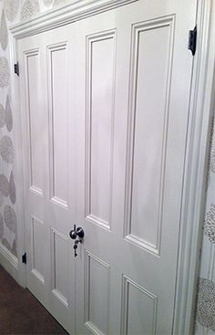 Double doors in the Victorian style