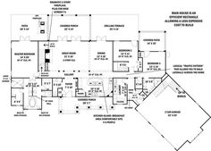 Craftsman Style House Plan - 3 Beds 3.50 Baths 2499 Sq/Ft Plan #119-367 Floor Plan - Main Floor Plan - Houseplans.com