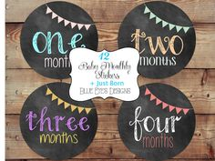 Monthly Baby Stickers Baby Monthly Sticker by blueeyesdesigns27, $12.00