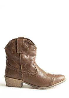 Dingo Womens Willie Ankle Cowboy Boots - Antique Tan | Ankle ...
