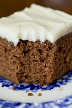 Easy, One Bowl Gingerbread Cake with Vanilla Bean Icing | The Café Sucre Farine
