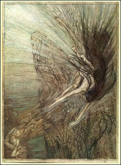 From Arthur Rackham's picture books of the Ring Cycle.
