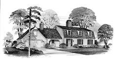 Eplans House Plan: The gambrel roof, vertical siding and a hayloft door on the garage are inspired by Colonial cottages still popular in New England. The contemporary interior makes good use of the avail-able space and reta Colonial Cottage, Colonial House Plans, Dutch Colonial, House Floor Plans, Gambrel Roof, Dream Home Design, Cape Cod, Cottages, House Styles