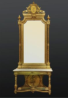 1000 images about louis xvi and louis xvi style furniture for Miroir style louis xvi
