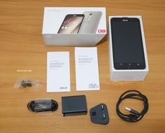 The contents of the packaging for ASUS ZenFone 2