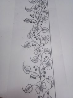 Ideas Embroidery Patterns Borders Design For 2019 Border Embroidery Designs, Floral Embroidery Patterns, Embroidery Motifs, Vintage Embroidery, Hand Quilting Patterns, Quilting Designs, Embroidery Machine Reviews, Embroidery Hoop Nursery, Bordado Floral