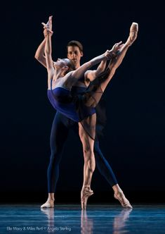 Pacific Northwest Ballet's Elle Macy and Miles Pertl in 'Tide Harmonic' - Photo by Angela Sterling