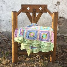 Spring Blanket - free pattern @ Crochet Millan (scroll down for English)