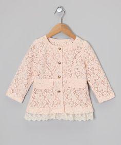 Pink Lace Coat