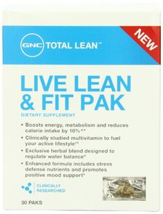 TOPSELLER! GNC Total Live Lean and Fit Pack Diet... $26.99