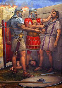 Romans with a Carthaginian captive