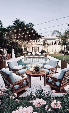 45 Backyard Patio Ideas That Will Amaze & Inspire You - Pictures of Patios Find inspirations to plan and beautify your backyard design. These backyard patio ideas will help you to make your backyard pretty and comfort. Check now! Future House, Interior Architecture, Interior And Exterior, Interior Design, Exterior Homes, Black Exterior, Dream House Exterior, Outdoor Spaces, Outdoor Living
