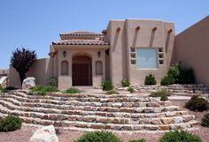 Adobe Pueblo Revival Architecture in Phoenix imitate the traditional Adobe construction. Search the many Adobe homes for sale in Historic Central Phoenix. Home Architecture Styles, Revival Architecture, Vernacular Architecture, Beautiful Architecture, Santa Fe, Pueblo House, Art Nouveau, Art Deco, Phoenix Real Estate