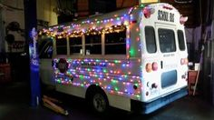 Got the bus all lit up for the Boys and Girls Club in Dumfries Virginia