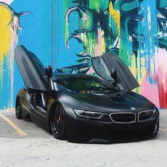 Matte Black BMW i8 cc: @billiondollarclub  Photo by @lordmcdonnell