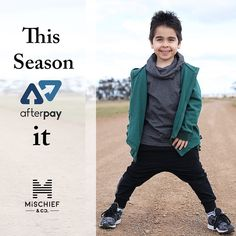 It's so easy to shop now and pay it later with #AfterPay available at checkout now http://ift.tt/1TgQUwL Shop the latest in #KidsFashion Today #kidsclothing #urbanfashion #streetwear #kidsclothes #shownow #fashionista #trendsetter #kids #fashion #kidsootd #shopthelook #shopnowpaylater #afterpayit #shopsmall #kidspants #kidstees #kidsjacket #2yearsold #1yearold #4yearsold #5yearsold #saturdayfashion  Thanks to @2_little_men