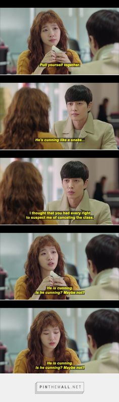 Pretty much sums up Seol's state of mind. #Cheese in the Trap #korean #drama